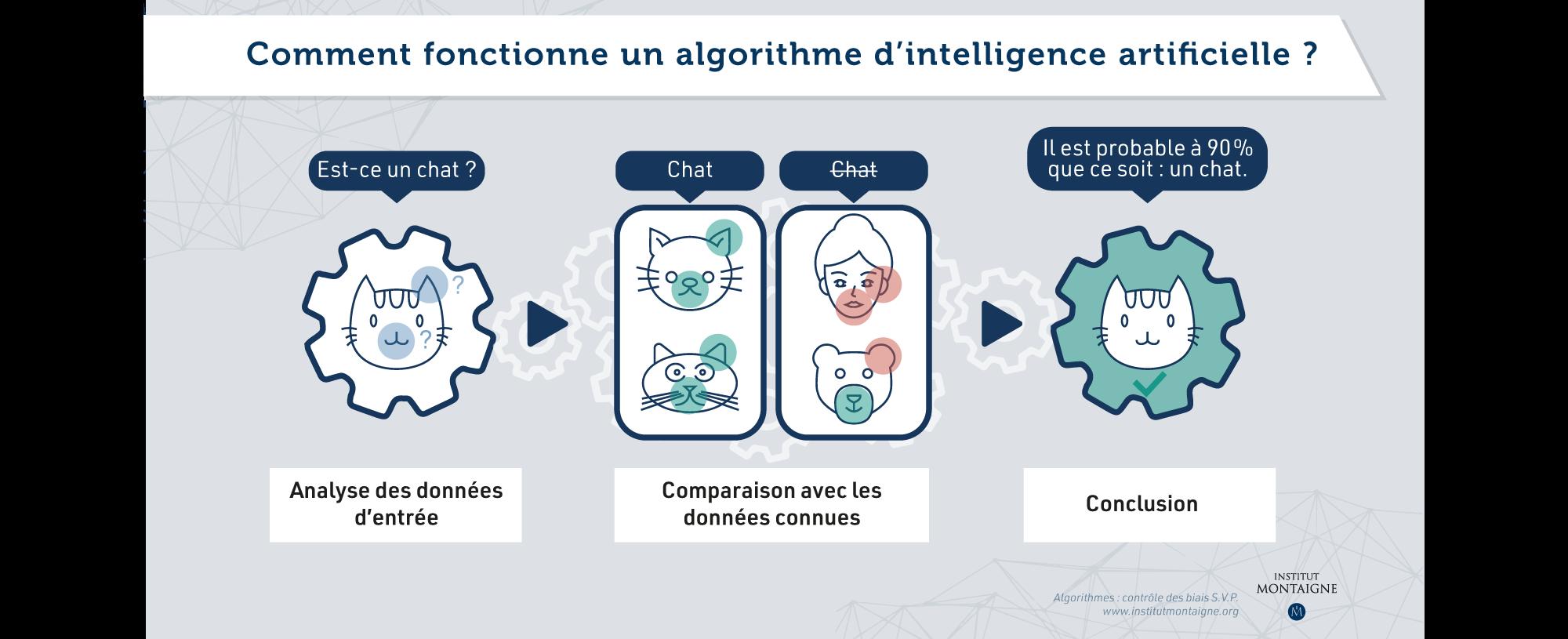 Algorithmes : contrôle des biais S.V.P. - Infographie : Comment fonctionne un algorithme d'intelligence artificielle